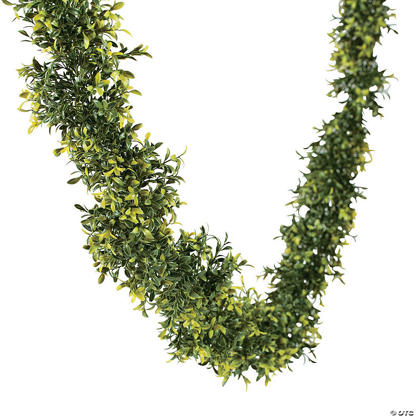 12 ft. Faux Leaf Greenery Garland Audio Thumbnail