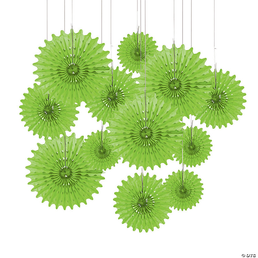 12 Lime Green Tissue Hanging Fans Audio Thumbnail
