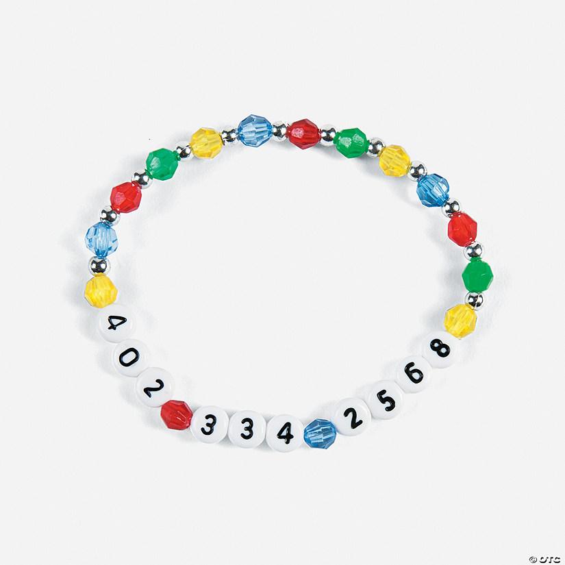 12 Phone Number Bracelets Craft Kit