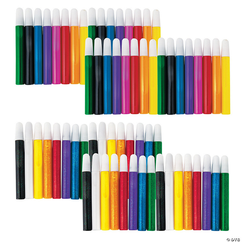 15 ml Marvelous Assorted Colors Suncatcher Paint Pen Mega Kit - Set of 72