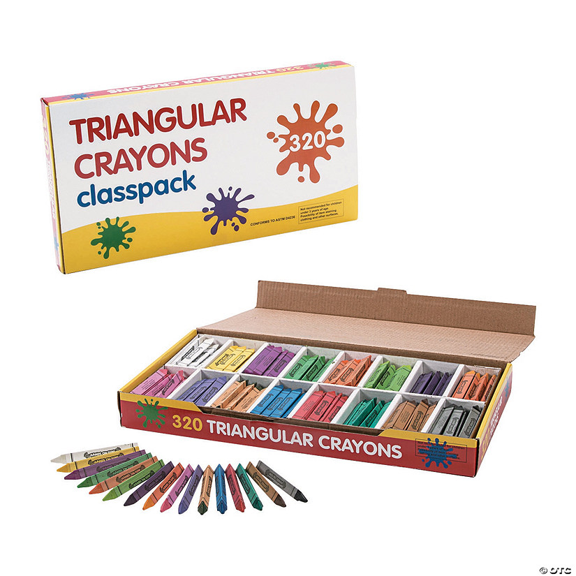 16-Color Triangular Crayon Classpack - 320  Pc. Audio Thumbnail
