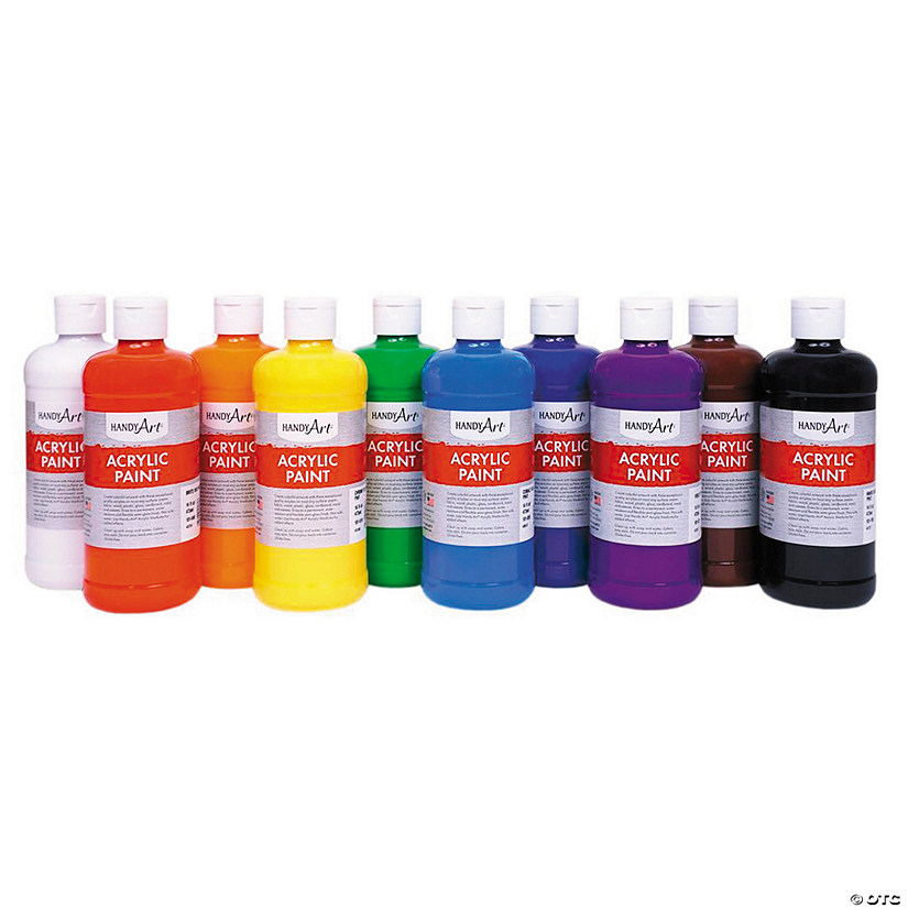 16-oz. Awesome Acrylic Paint - Set of 10 Audio Thumbnail