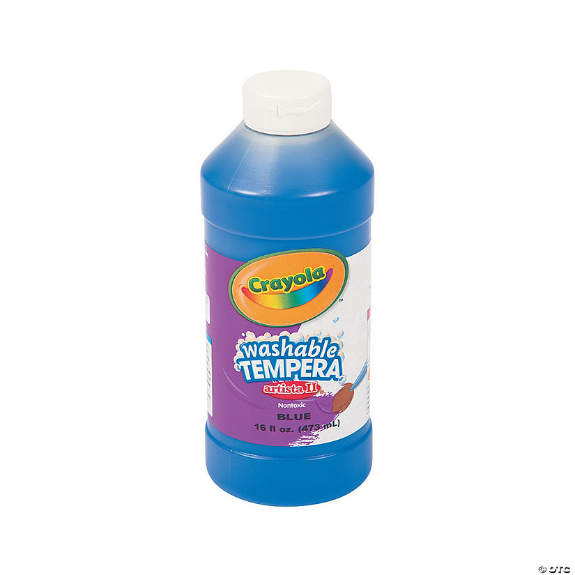 16-Oz. Crayola® Artista II Washable Blue Tempera Paint Audio Thumbnail