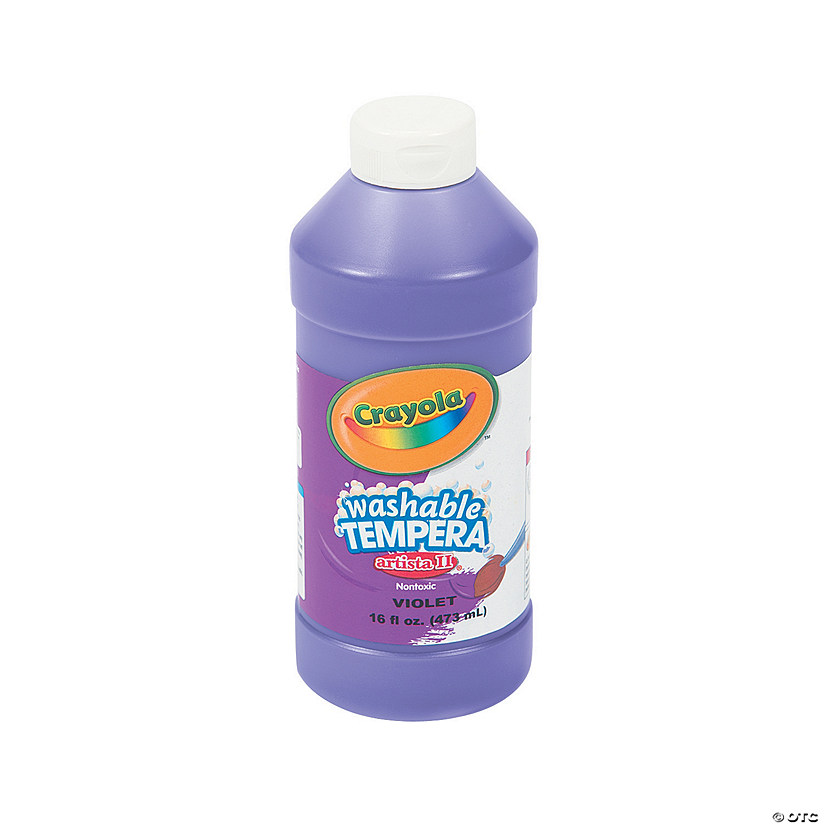 16-oz. Crayola® Artista II Washable Purple Tempera Paint Audio Thumbnail