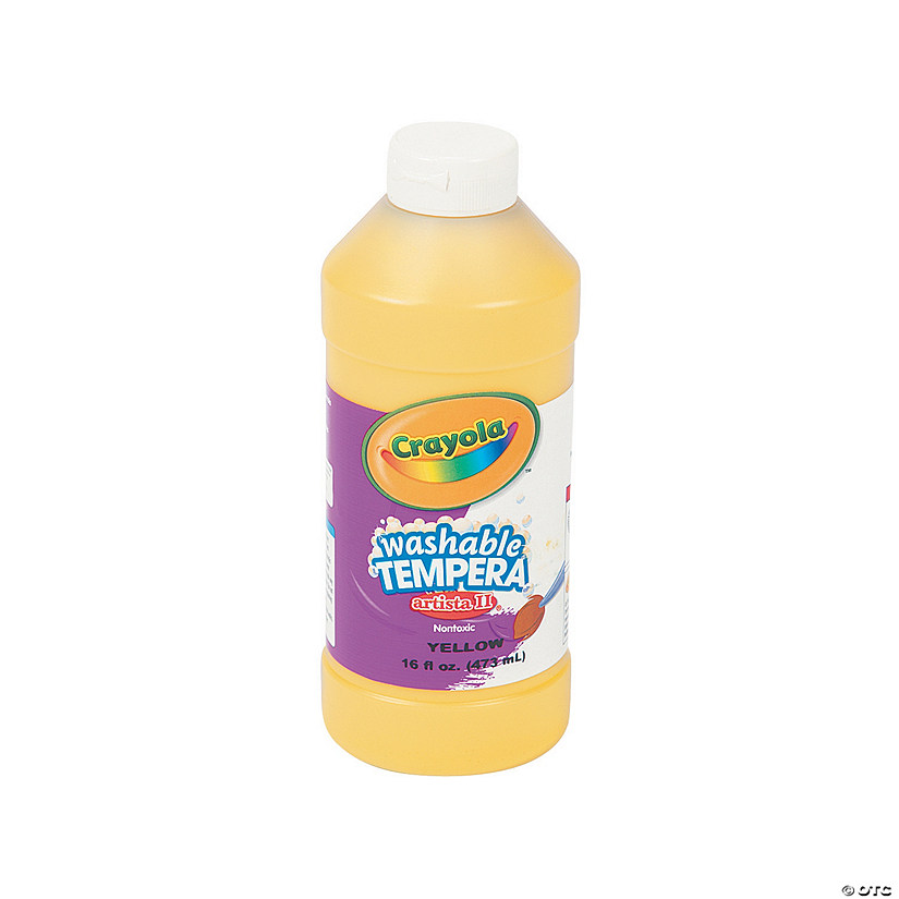 16-Oz. Crayola® Artista II Washable Yellow Tempera Paint Audio Thumbnail