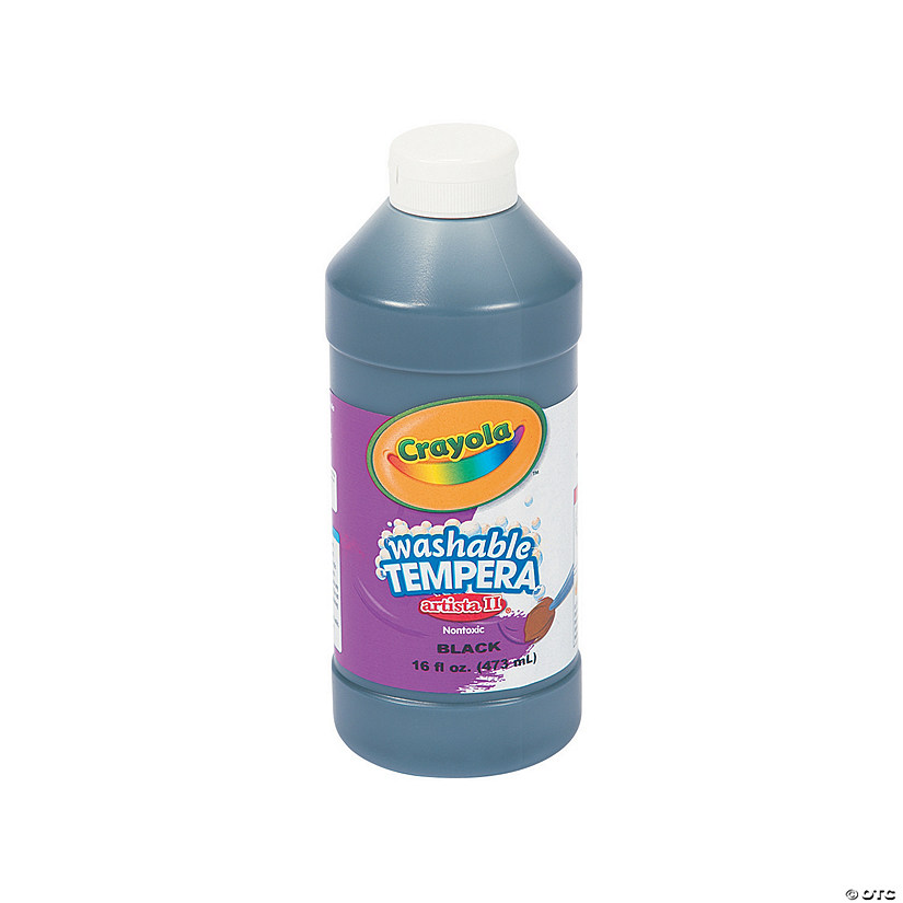 16-Oz. Crayola<sup>&#174;</sup> Artista II Washable Black Tempera Paint Audio Thumbnail