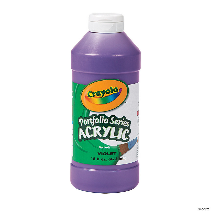 16-oz. Crayola® Washable Purple Acrylic Paint Audio Thumbnail