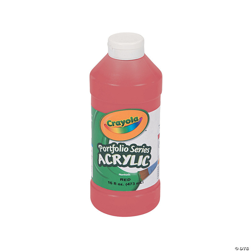 16-oz. Crayola® Washable Red Acrylic Paint Audio Thumbnail