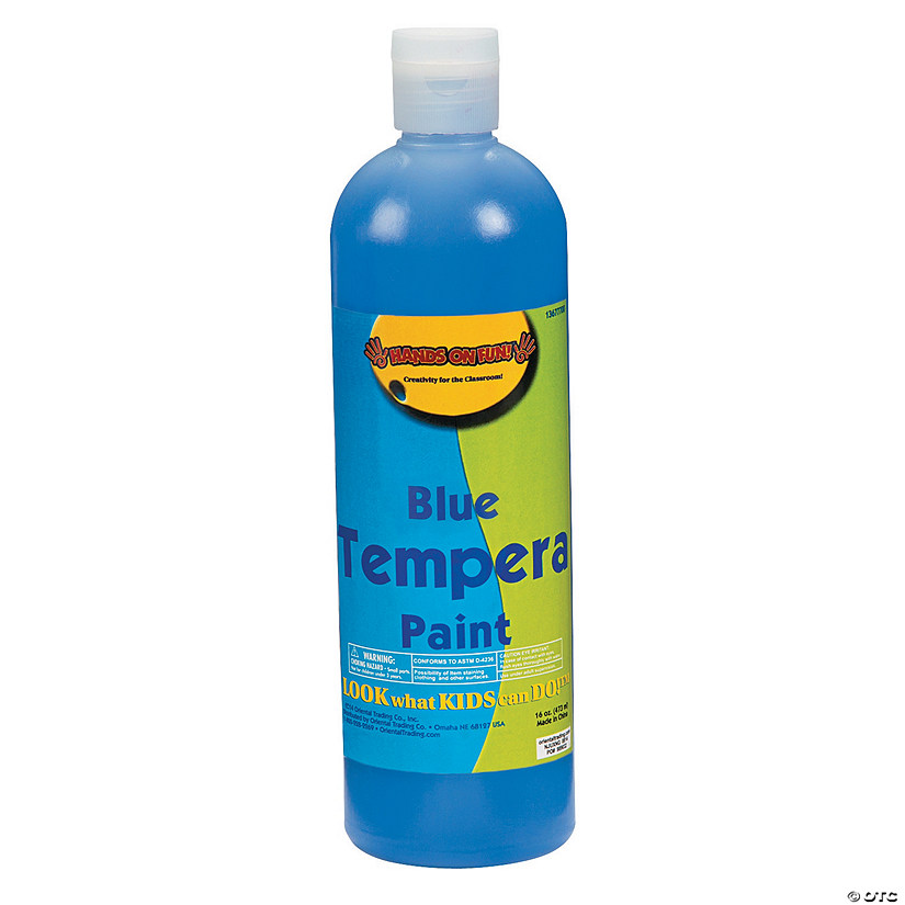 16-Oz. Washable Blue Tempera Paint