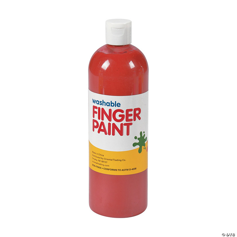 16-oz. Washable Red Finger Paint