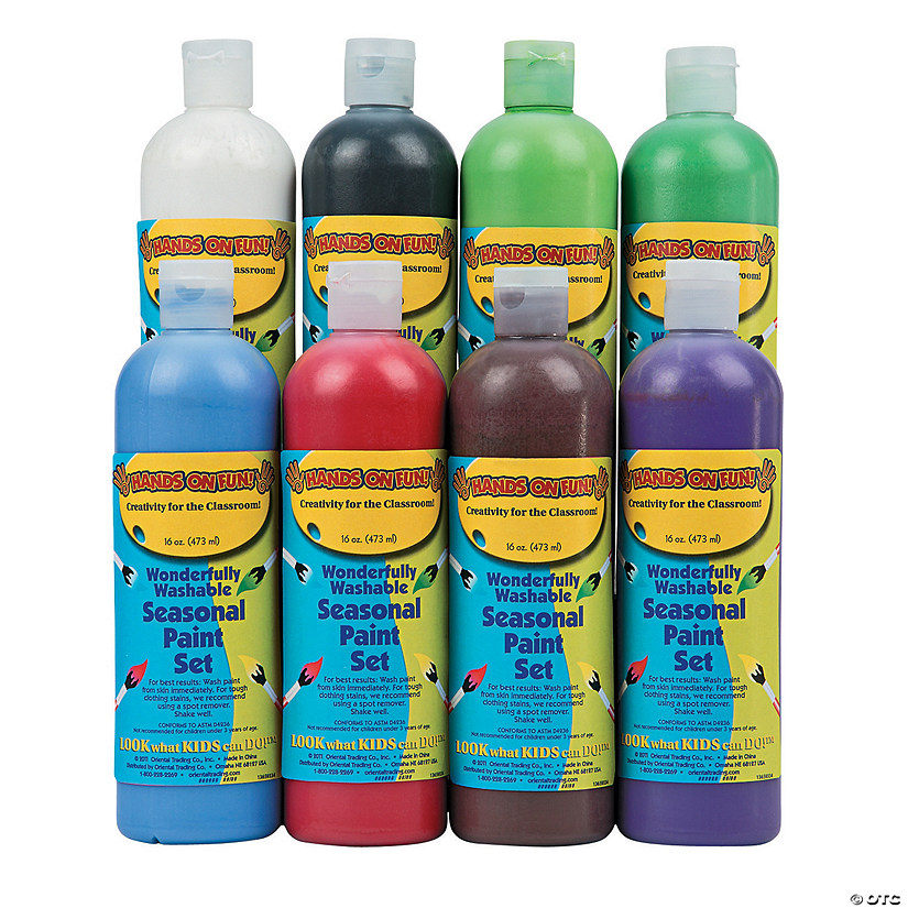 16-Oz. Wonderfully Washable Seasonal Assorted Colors Paint - Set of 8