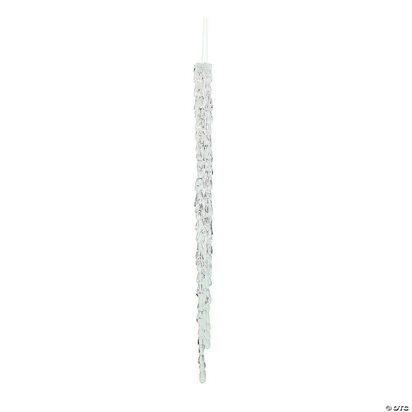 "18"" Clear Acrylic Icicle Ornament - 4/Box Audio Thumbnail"