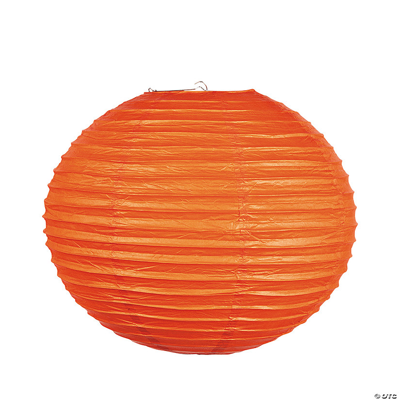 "18"" Orange Hanging Paper Lanterns Audio Thumbnail"