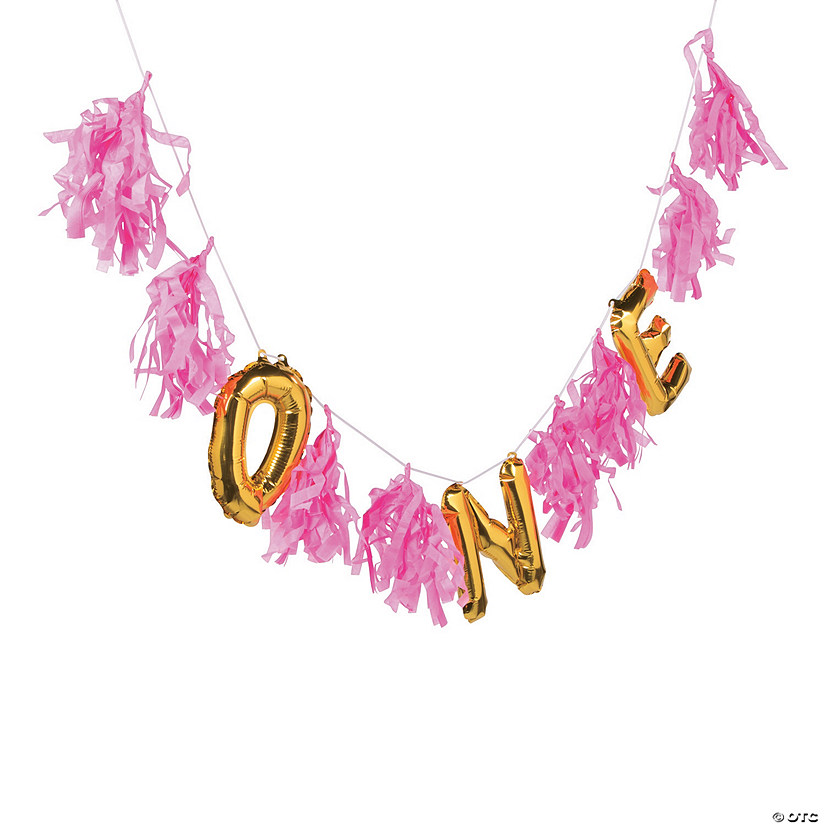 1st Birthday Balloon Tassel Garland