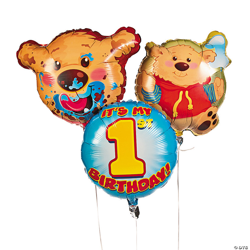 1st Birthday Bear Mylar Balloons Audio Thumbnail