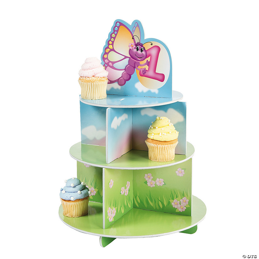 "1st Birthday ""Butterfly"" Cupcake Stand Audio Thumbnail"