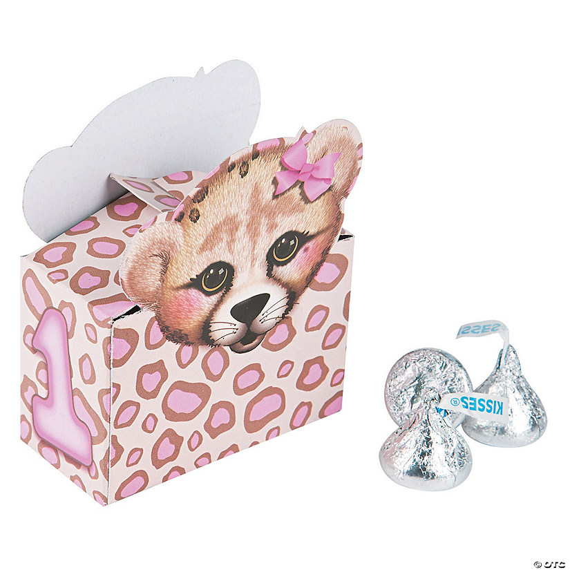 1st Birthday Cheetah Favor Boxes Audio Thumbnail