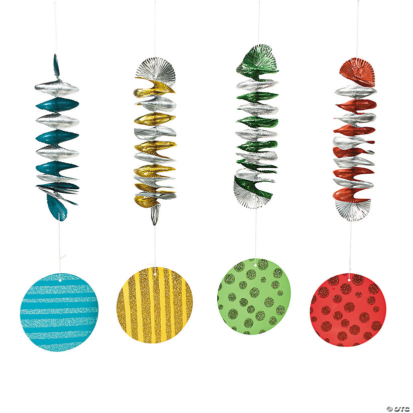 1st Birthday Circus Hanging Spiral Decorations - 12 Pc. Audio Thumbnail