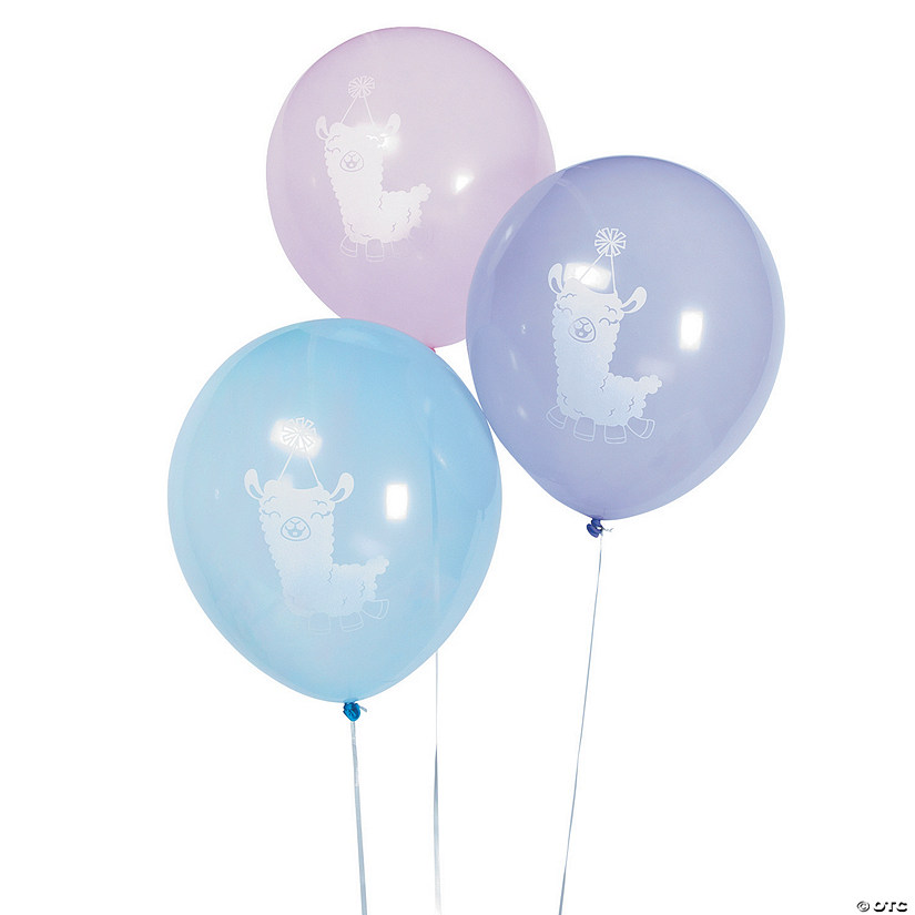 "1st Birthday Lil' Llama 12"" Latex Balloons Audio Thumbnail"