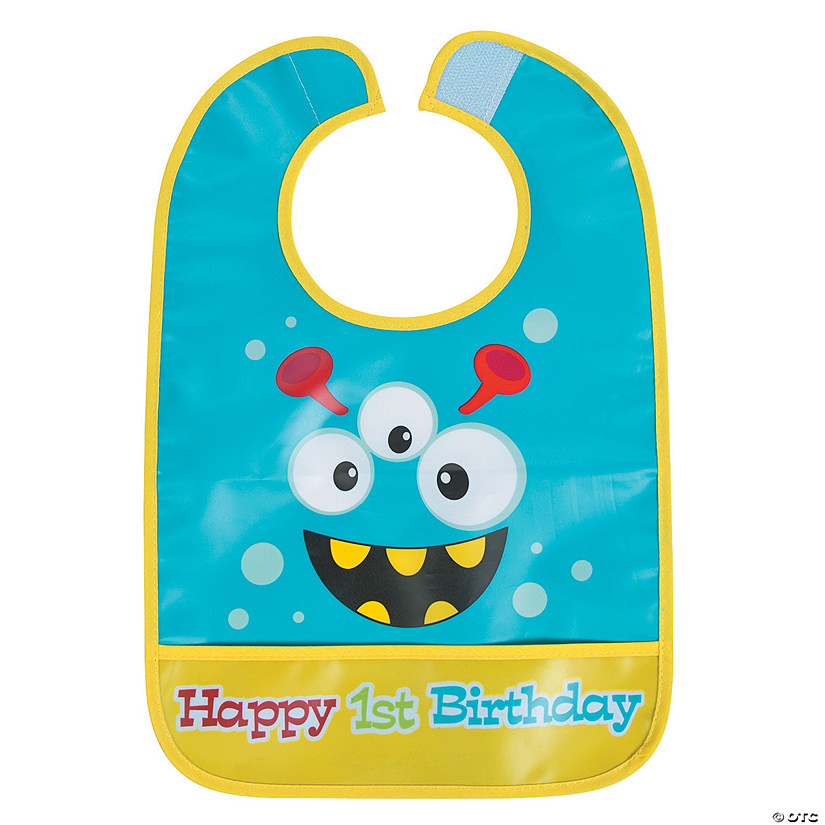 1st Birthday Mini Monster Bib Audio Thumbnail