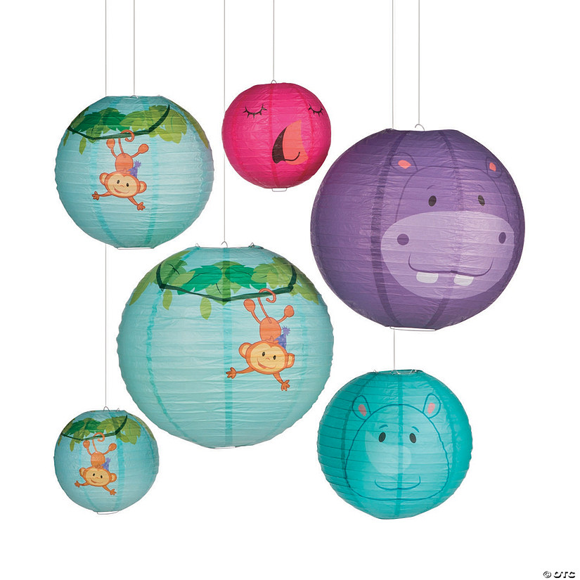 1st Birthday Zoo Party Hanging Paper Lanterns