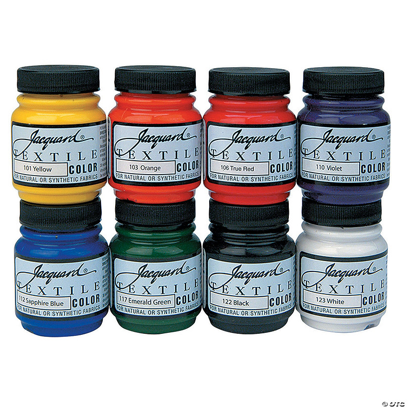 2.25-oz. Jacquard Textile Primary & Secondary Assorted Colors Fabric Paint - Set of 8 Audio Thumbnail
