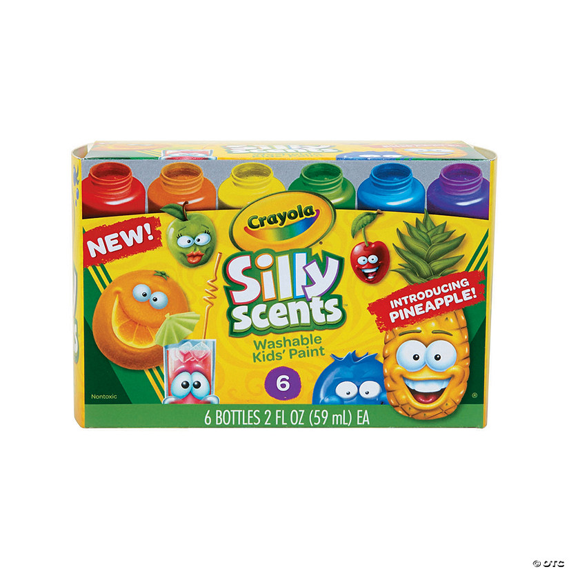 2-oz. Crayola<sup>&#174;</sup> Silly Scents&#8482; Washable Assorted Colors Paint - Set of 6 Audio Thumbnail
