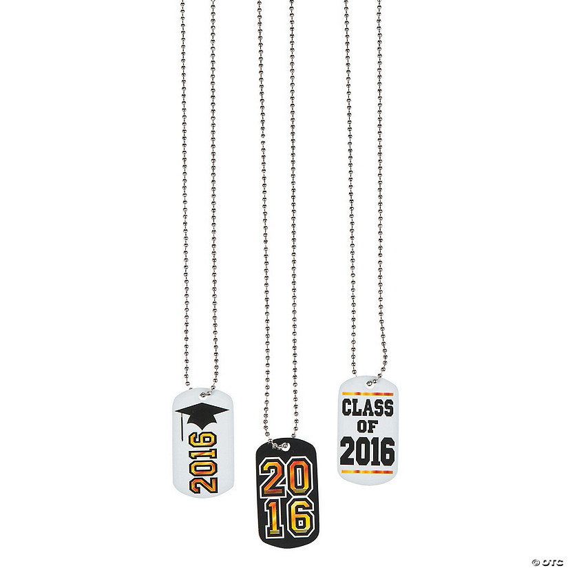 2016 Graduation Dog Tag Necklaces
