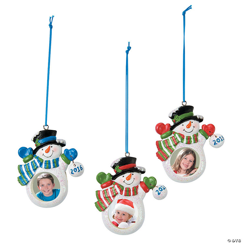 2016 snowman picture frame christmas ornaments