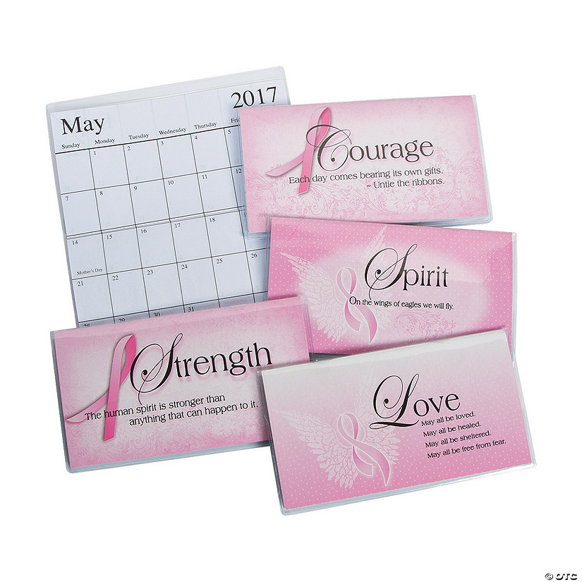 2017 - 2018 Pink Ribbon Pocket Calendars