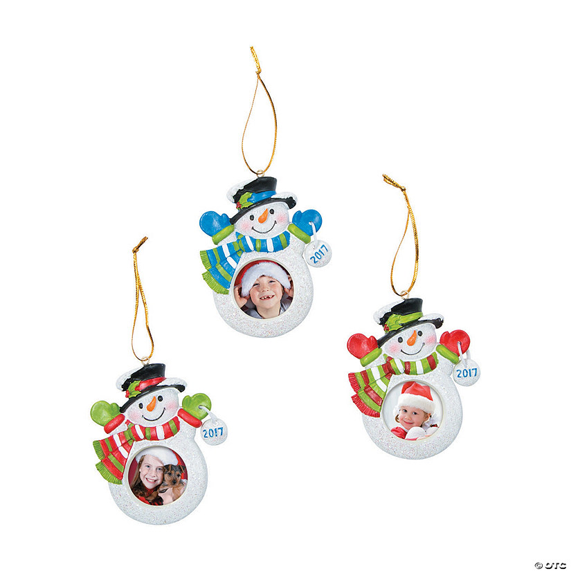 2017 snowman picture frame christmas ornaments
