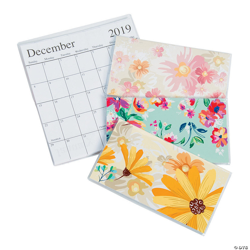 2019 2020 Floral Desk Calendar: 2020 Floral Pocket Calendars