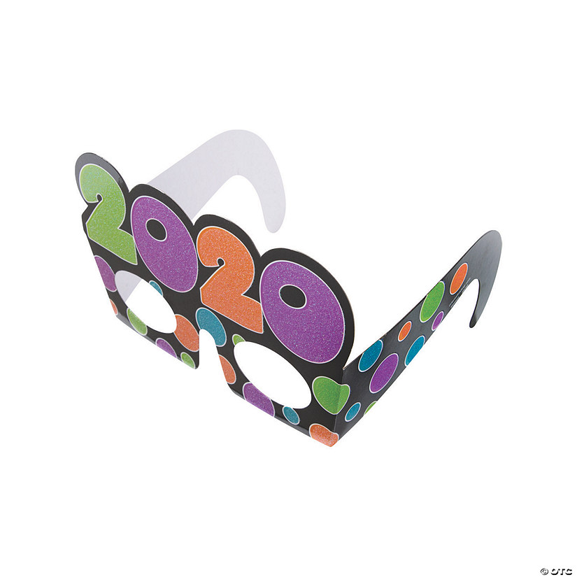 2020 Bright New Year's Eve Glasses Image Thumbnail