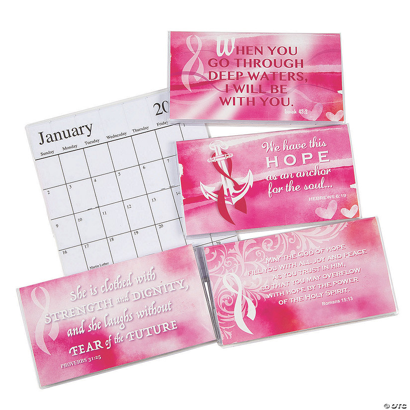 2021 - 2022 Pink Ribbon Faith Pocket Calendars Image Thumbnail