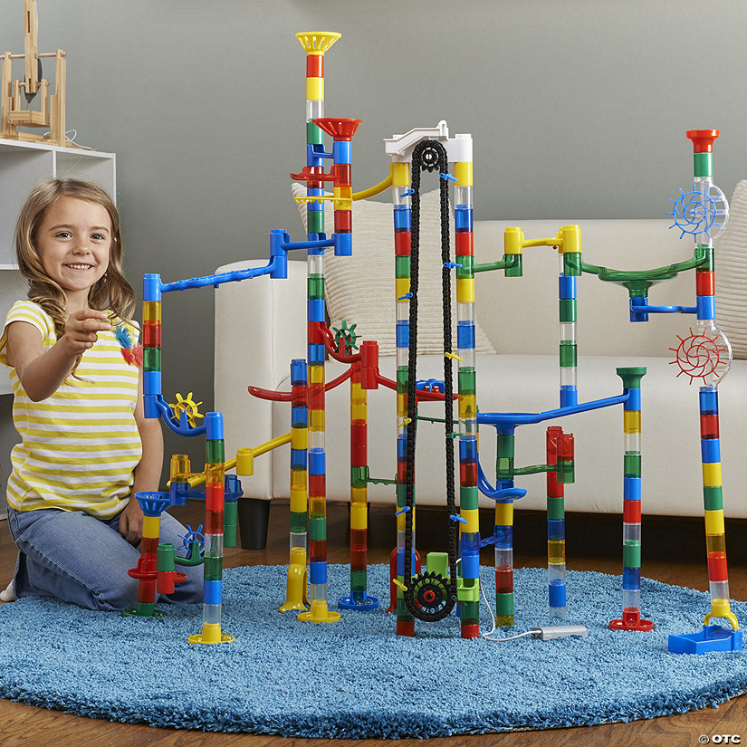 215 Piece Mega Marble Run with Motorized Marble Elevator Image Thumbnail