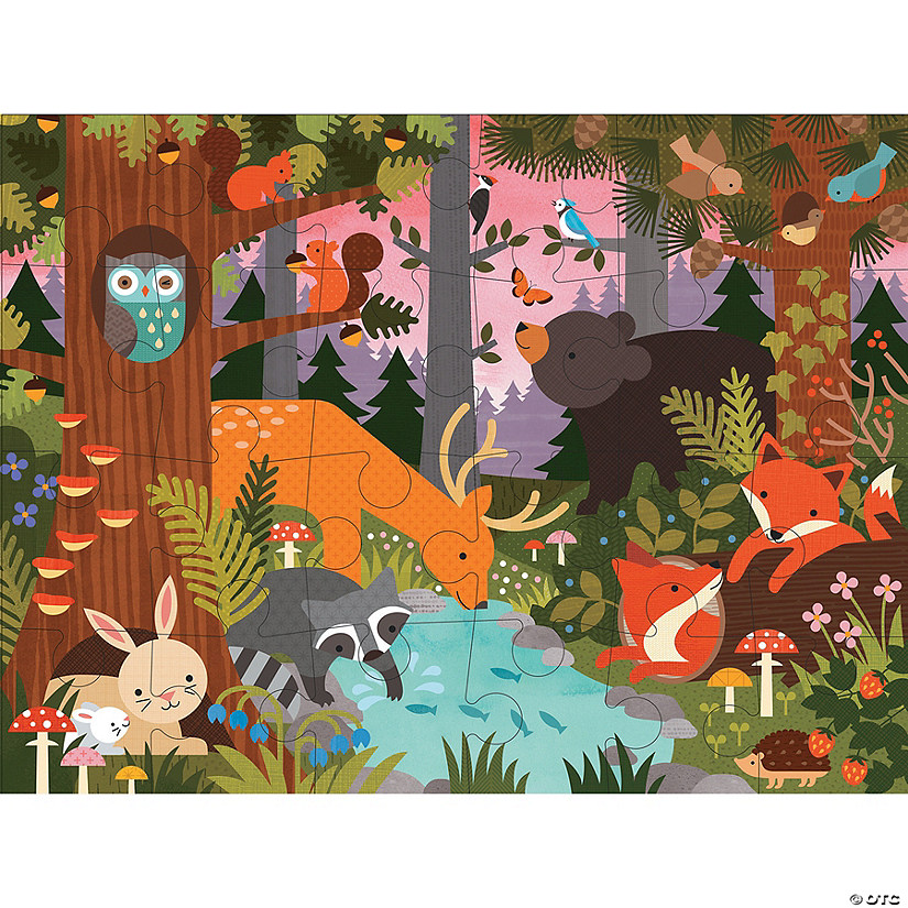 24-piece Floor Puzzle: Enchanted Woodland