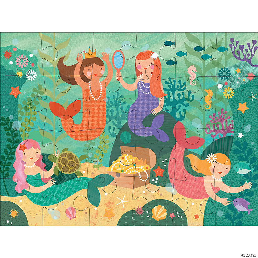 24-piece Floor Puzzle: Mermaid Friends Audio Thumbnail