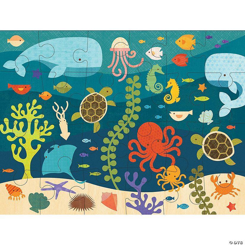 24-piece Floor Puzzle: Ocean Life Audio Thumbnail