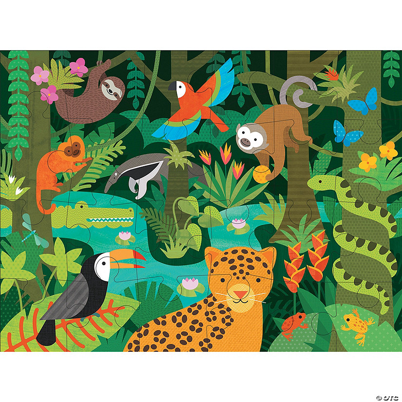24-piece Floor Puzzle: Wild Rainforest Image Thumbnail