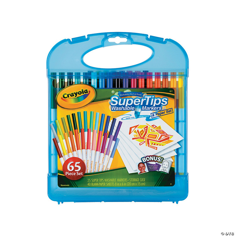 25-Color Crayola® Supertips Washable Markers & Paper Set Audio Thumbnail