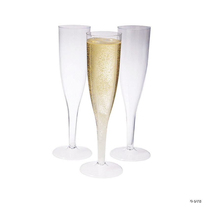 25-Pc. Clear Champagne Flutes Box Set Audio Thumbnail