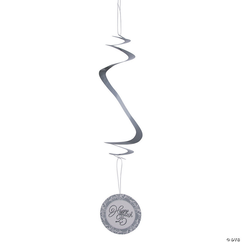 25th Anniversary Hanging Swirl Decorations - 12 Pc. Audio Thumbnail
