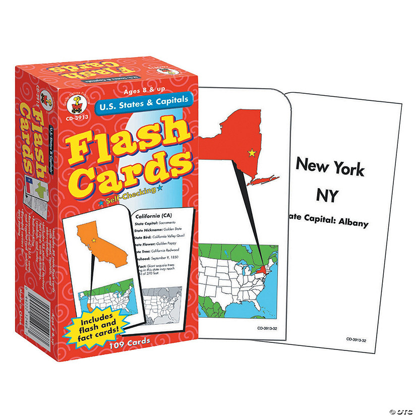 (3 Ea) Flash Cards Us States & Capitals Audio Thumbnail