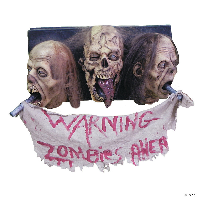 3-Faced Zombie Wall Plaque Halloween Decoration Audio Thumbnail