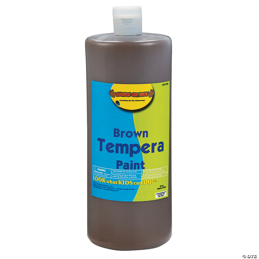 32-Oz. Washable Brown Tempera Paint