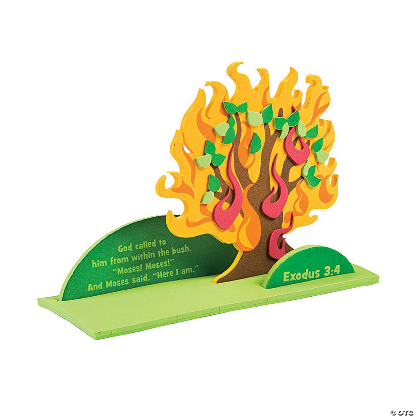 craft of moses and the burning bush