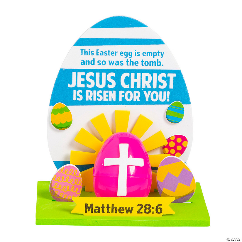 3D Empty Tomb Easter Egg Craft Kit Image Thumbnail