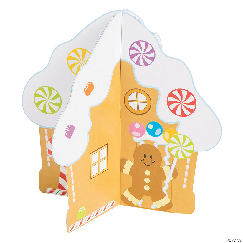 3D Gingerbread House with Stickers Image Thumbnail