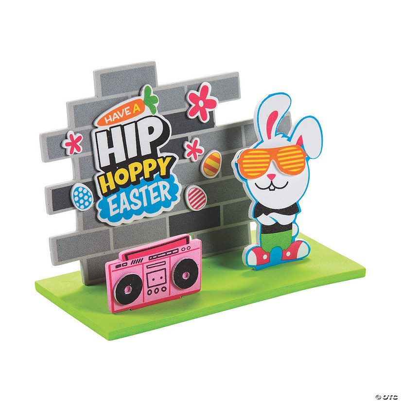 3D Hip Hop Bunny Stand-Up Craft Kit Audio Thumbnail