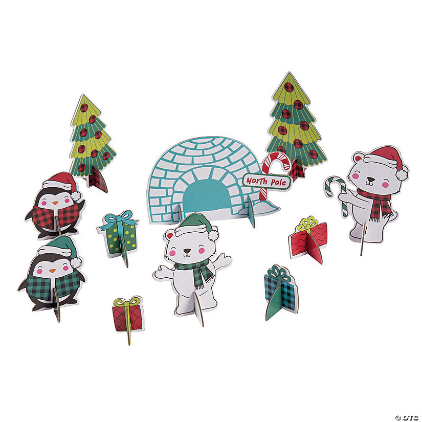3D Holiday Build & Play Scene Giveaway Kits Image Thumbnail